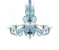 Люстра Barovier&Toso Barovier 5306/12/AQ  Хром,аквамарин (пр-во Италия)
