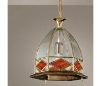 Подвесной светильник  Cremasco 1821/1S-NO.OL.c.am  Золото, орех (пр-во Италия)