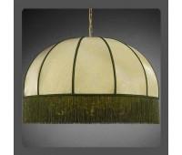 Подвесной светильник La Lampada L 389/6+6.26 Paralume Verde   Золото (пр-во Италия)
