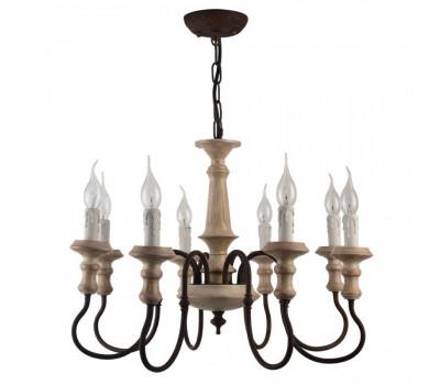 5065, Светильник подвесной Arte Lamp A1700LM-8BR WOODSTOCK  Коричневый (пр-во Италия), A1700LM-8BR WOODSTOCK, Arte Lamp, Люстры