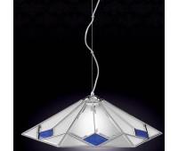 Подвесной светильник  Cremasco 1028/1S-CR.sm.bl  Хром (пр-во Италия)