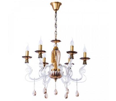 5190, Светильник подвесной Arte Lamp 5127/21 LM-6 AMBRA  Бронза, коньячный (пр-во Италия), 5127/21 LM-6 AMBRA, Arte Lamp, Люстры