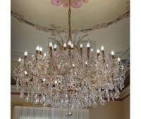 Люстра  Voltolina(Classic Light) 1001.045  Золото, прозрачный (пр-во Италия)