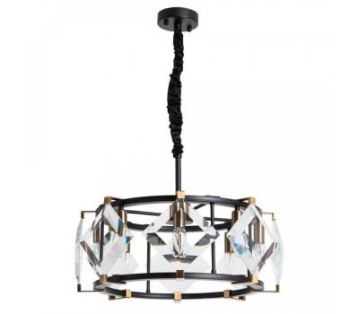 5168, Светильник подвесной Arte Lamp 7304/04 SP-8 ELLIOT  Черный с латунью (пр-во Италия), 7304/04 SP-8 ELLIOT, Arte Lamp, Люстры