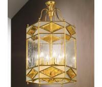 Подвесной светильник  Cremasco 3024/6S-GR-OL.cg  Золото (пр-во Италия)