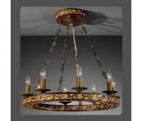 Подвесной светильник La Lampada L 801/8.40 Legno Noce  Бронза (пр-во Италия)