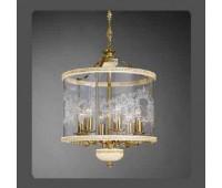 Подвесной светильник La Lampada L 386/6.26 Ivory Gold+Wood  Слоновая кость (пр-во Италия)