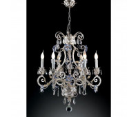 Люстра   Epoca Lampadari 1419/6 dec. 841 lilac crystal  Серебряная фольга, слоновая кость (пр-во Италия)