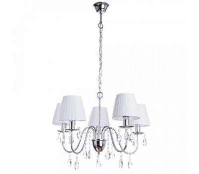 5028, Светильник подвесной Arte Lamp A9123LM-5CC MELISA  Хром (пр-во Италия), A9123LM-5CC MELISA, Arte Lamp, Люстры
