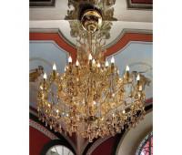 Люстра  Voltolina(Classic Light) 1003.045  Золото, янтарный (пр-во Италия)