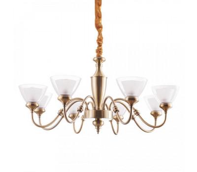 5124, Светильник подвесной Arte Lamp A5184LM-8AB TOSCANA  Античная бронза (пр-во Италия), A5184LM-8AB TOSCANA, Arte Lamp, Люстры