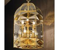 Подвесной светильник  Cremasco 2089/9S-GR-OL.cg  Золото (пр-во Италия)