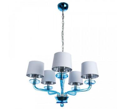 5108, Светильник подвесной Arte Lamp 1155/04 LM-5 VENETO  Хром и полупрозрачное стекло синего цвета  (пр-во Италия), 1155/04 LM-5 VENETO, Arte Lamp, Люстры