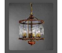Подвесной светильник La Lampada L 386/6.40 Noce Bronze+Wood   Бронза (пр-во Италия)
