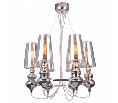 5095, Светильник подвесной Arte Lamp A4280LM-6CC ANNA MARIA  Хром (пр-во Италия), A4280LM-6CC ANNA MARIA, Arte Lamp, Люстры