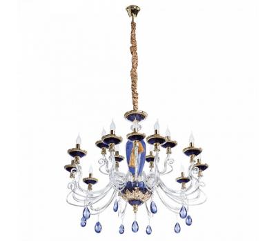 5096, Светильник подвесной Arte Lamp 5125/11 LM-15 SIMONA  Синий, золото (пр-во Италия), 5125/11 LM-15 SIMONA, Arte Lamp, Люстры