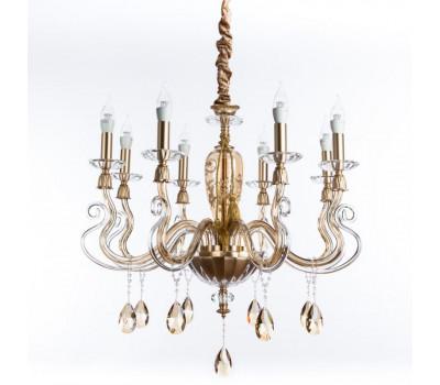 5132, Светильник подвесной Arte Lamp 5124/07 LM-8 CARL  Золото, янтарный (пр-во Италия), 5124/07 LM-8 CARL, Arte Lamp, Люстры