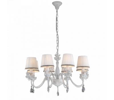 5067, Светильник подвесной Arte Lamp A5656LM-8WG CHERUBINO  Белый с золотым (пр-во Италия), A5656LM-8WG CHERUBINO, Arte Lamp, Люстры