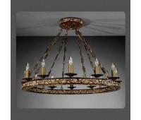 Подвесной светильник La Lampada L 801/12.40 Legno Noce  Бронза (пр-во Италия)