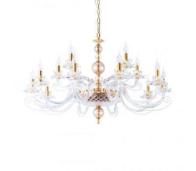 5197, Светильник подвесной Arte Lamp 8820/09 LM-15 PLATEA  Янтарный, золото (пр-во Италия), 8820/09 LM-15 PLATEA, Arte Lamp, Люстры