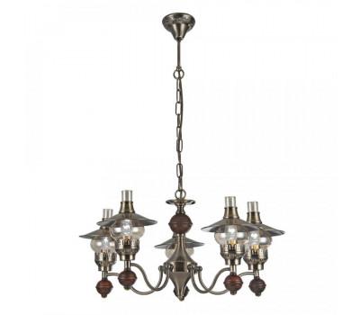 5054, Светильник подвесной Arte Lamp A5664LM-5AB TRATTORIA  Античная бронза (пр-во Италия), A5664LM-5AB TRATTORIA, Arte Lamp, Люстры