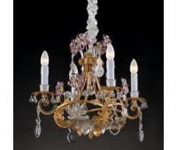 Люстра   Epoca Lampadari 1418/4 dec. 722 pink crystal  Античная, серебряная фольга и золотая фольга (пр-во Италия)