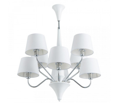 5170, Светильник подвесной Arte Lamp A1528LM-8WH GRACIA  Белый (пр-во Италия), A1528LM-8WH GRACIA, Arte Lamp, Люстры