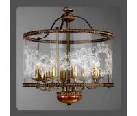 Подвесной светильник La Lampada L 386/8.40 Noce Bronze+Wood   Бронза (пр-во Италия)