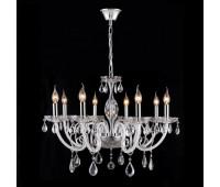 Люстра Crystal Lux GLAMOUR SP-PL8  Хром, прозрачный, белый (пр-во Испания)