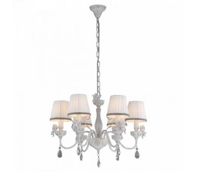 5198, Светильник подвесной Arte Lamp A5656LM-6WG CHERUBINO  Бело-золотой (пр-во Италия), A5656LM-6WG CHERUBINO, Arte Lamp, Люстры