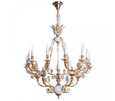 5068, Светильник подвесной Arte Lamp A7024LM-16WG LUISA  Бело-золотой (пр-во Италия), A7024LM-16WG LUISA, Arte Lamp, Люстры