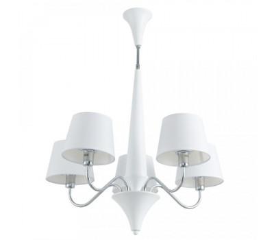5181, Светильник подвесной Arte Lamp A1528LM-5WH GRACIA  Белый (пр-во Италия), A1528LM-5WH GRACIA, Arte Lamp, Люстры