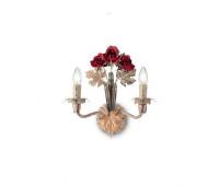 Бра Ideal Lux Camilla AP2  Бежевый, золотая фольга и красные розы (пр-во Италия)