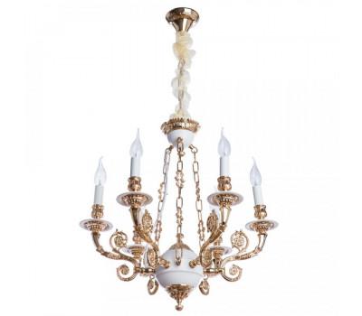 5184, Светильник подвесной Arte Lamp A7024LM-6WG LUISA  Бело-золотой (пр-во Италия), A7024LM-6WG LUISA, Arte Lamp, Люстры