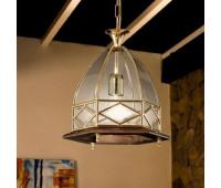 Подвесной светильник  Cremasco 1821/1S-NO.OL.c.sm  Золото, орех (пр-во Италия)