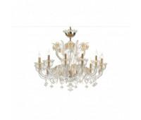 Подвесной светильник Luxury IL Paralume Marina Chandeliers 2228/CH12  Золото (пр-во Италия)