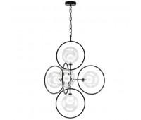 (1364/5) Люстра ALFA 5х40W G9 ЧЕРНЫЙ (в комплекте) Lightstar 745057  (пр-во Италия)