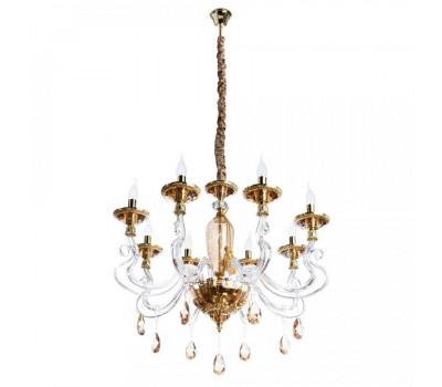 5046, Светильник подвесной Arte Lamp 5125/07 LM-8 SIMONA  Стекло янтарного цвета и золото  (пр-во Италия), 5125/07 LM-8 SIMONA, Arte Lamp, Люстры