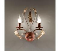 Бра MM Lampadari 6501/A2  Состаренно коричневый с матовым золотом (пр-во Италия)