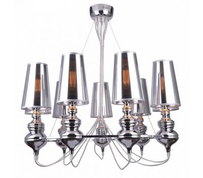 5152, Светильник подвесной Arte Lamp A4280LM-9CC ANNA MARIA  Хром (пр-во Италия), A4280LM-9CC ANNA MARIA, Arte Lamp, Люстры