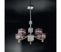 Люстра IDL 387/5 Chrome  Хром,янтарь (пр-во Италия)