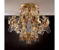 Потолочная люстра  Gallo M 458/8  Золото (пр-во Италия)