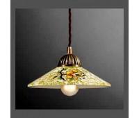 Подвесной светильник La Lampada SOSP 3112/1.40 *20 Green Ceramica   Бронза (пр-во Италия)