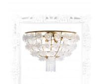 Потолочный светильник IL Paralume Marina 1871  Состаренное золото, прозрачно-белый (пр-во Италия)