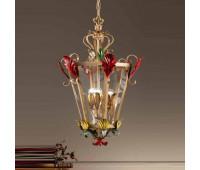 Подвесной светильник  Passeri  L. 8345/3 Dec. 104  Золотистый, зеленый, желтый, красный (пр-во Италия)