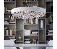 Подвесной светильник Masiero Ola S6 90V95  Металл с порошковым покрытием цвета белого опала - wh-m (пр-во Италия)