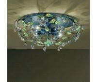 Потолочный светильник MM Lampadari 6681/P4  Черный матовый с золотом и зеленым (пр-во Италия)