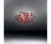 Потолочный светильник Metal Lux 206.330.04  Хром,красный (пр-во Италия)