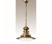 Подвесной светильник Cremasco 493/1S-BRSF  Бронза (пр-во Италия)