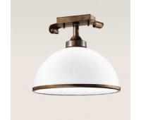 Потолочный светильник  Cremasco 384/1PL-BR-VE2-35-BI  Латунь (пр-во Италия)